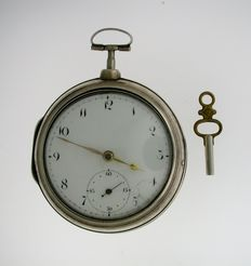 English verge pocket watch by John Bridport Liverpool 1805