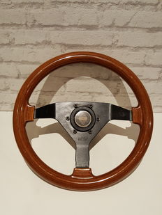 Cisa Wooden Sports Steering Wheel - Renault