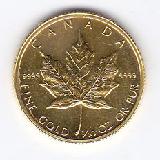 Canada - 5 Dollars 1982 'Maple Leaf' - 1/10 oz goud