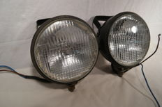 2 Hella spot lights-16 cm diameter-20th century.