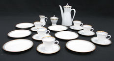 Rosenthal - Mocha-/Espresso set model Form 2000 for 6 persons, designed by Richard S. Latham / Raymond Loewy, decor grau blau