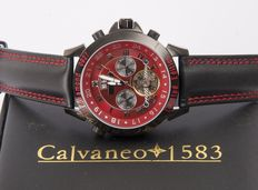 CALVANEO 1583 Astonia Fire Diamond Automatic men's wristwatch with a 2 mm black diamond - limited edition - new
