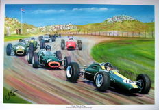 "Fine Art Print - ""From Flag to Flag"" Jim Clark - Lotus 25 Climax - Dutch Grand Prix 1964"