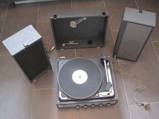 DUAL 1010 AV 52 - Portable Stereo Turntable with Amplifier with 2 Speakers