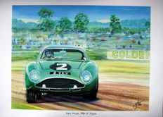 Fine Art Print - Aston Martin DB4 Zagato - Jim Clark - Goodwood 1962