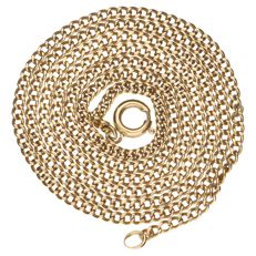14 kt Yellow gold curb link necklace 14 kt - 59 cm