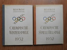 2 x Photos album 15th Winter Olympics in 1952 in Oslo and Summer Olympics in Helsinki - Complete