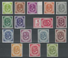 Federal Republic of Germany 1951 – Post horn – Michel 133/138