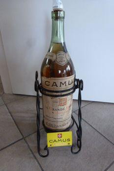 3 litre big bottle of Camus cognac in a swing-rack - 2nd half of 20th century