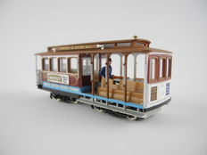 """Bachmann H0 - 41-0605-D1 - Tram """"San Francisco Cable-Car"""" of the Powell & Hyde, with Grolsch-advertising [488]"""
