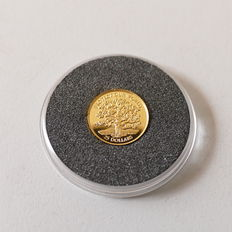 """Niue - the smallest gold coins in the world """"Oak"""" - 1996"""