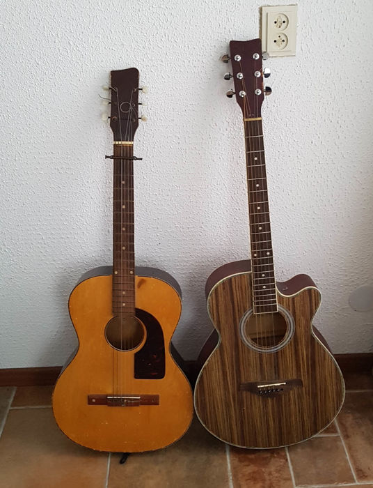 2 old guitars - fixer-uppers - Catawiki