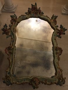Large Venetian style mirror - Italy - end XIX century