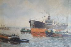 Unknown (20th century)-harbour view