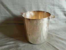 silver plated bronze ice bucket, 20th century