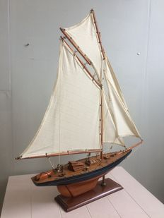 Schooner, single masted sailing boat-first half of the 20th century