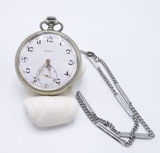 Large Doxa pocket watch with watch chain- approx 1900 – 1920
