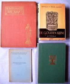 Lot with 4 books about symbolism in the religious art of the Dutch East Indies - 1901/1948.
