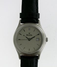 Steel BULOVA New Old Stock Wristwatch with Date Ladies USA 1970