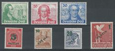 Berlin 1949 - Goethe and Green overprint - Michel 61/63 + 64/67
