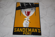 Sandeman's Port enamel sign - 1960