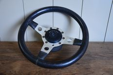 Formuling France - leather steering wheel for vintage/classic car - 33 cm diameter