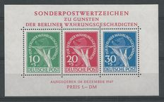 Berlin 1949 - Victims of currency devaluation – Michel block 1