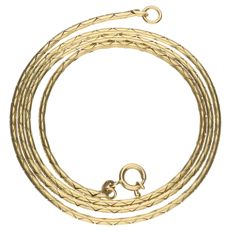 Yellow gold luna necklace