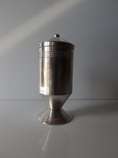 Christofle - APOLLO collection - large salt shaker or spice sprinkler - silver plated metal - signed - circa 1950