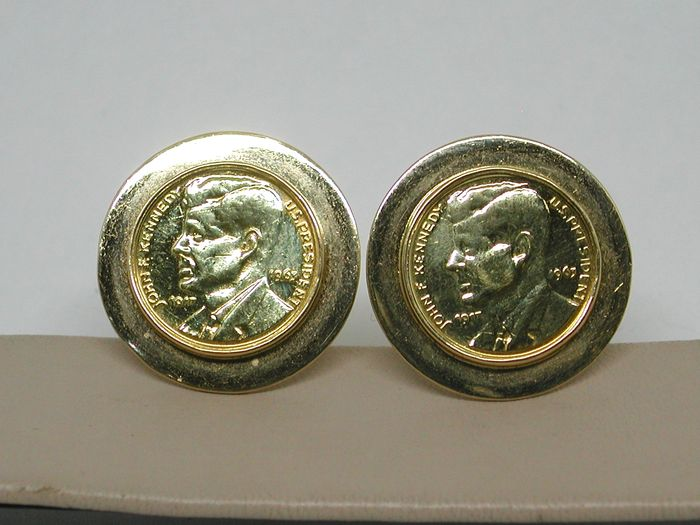 Gold cufflinks JFK 1963