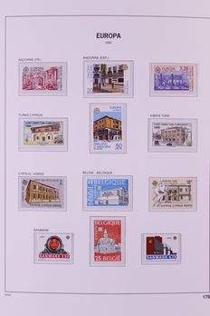 Europa Stamps 1970/1995 - two collections in Davo XL album and Davo cristal album