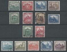 German Empire/Reich 1930/1932 – Selection emergency relief – Michel 450/453, 459/464, 474/478