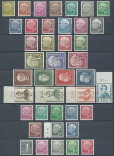 Federal Republic of Germany 1954/1956 - Selection 1950s - Michel 177x/196x, 200/203, 222, 225, 179xyII/285yII, 179yw/260y(lumogen lwz)