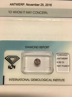 Natural diamond of 0.82 ct.