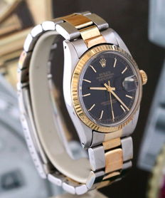 Rolex Datejust 16013 - Watch in steel and 18 kt gold