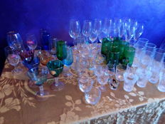 Large lot of glasses
