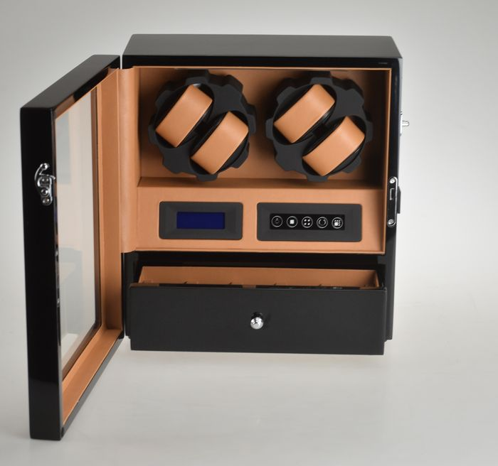 Premium watch winder for 4 automatic and 5 quartz timepieces