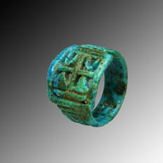 Ancient Egyptian faience ring - 2,5 cm