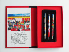 PARKER: limited-edition schrijfset Jan Creemer: vulpen, ballpoint en vulpotlood in boekdoos