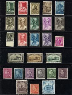 Belgium 1934/1936 – Selection of 8 issues with 2.45 Fr Poortman, Charleroi, Borgerhout and Expo – OPB 385/437