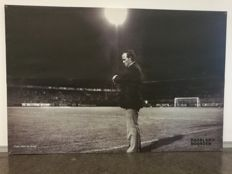 Several historical photos on canvas from former players home FC Groningen