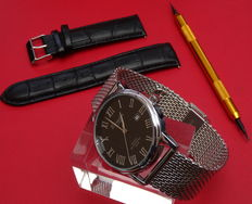 eichmuller classic dress watch with mesh strap