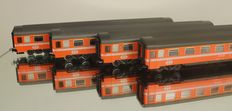 Märklin H0 - 4162/4267 - Four Eurofima carriages of the SBB