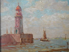 Unknown (20th century) - Harbour of Bremen