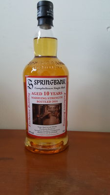 Springbank 10 years old Marrying Strength bottled 2016 + free 3ml sample of this whisky