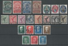 German Empire/Reich 1924/1927 – Selection – Michel 351/354, 375/384, 403/422