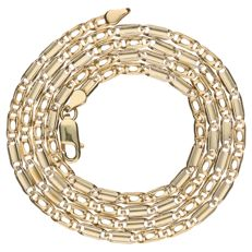 Yellow gold fantasy link necklace