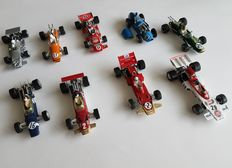 Quartzo - Scale 1/43 - Lot with 9 models:  Lotus, Brabham, March, Ferrari & March,