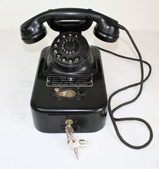 Coin telephone tabletop model - approx. 1950-1960