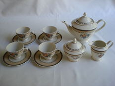 Bavaria : Heinrich Winterling - Porcelain 7 piece tea set
